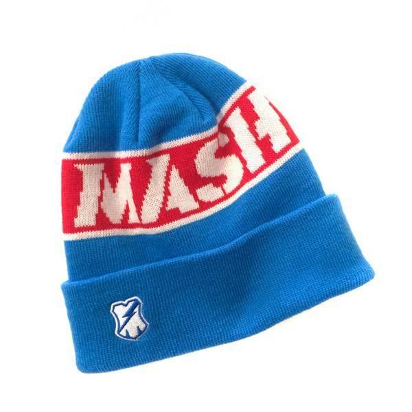 MASH WORD BEANIE BLUE