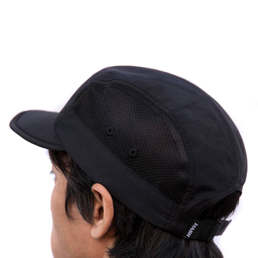 MASH FOLDABLE LIGHTWEIGHT MESH HAT BLACK