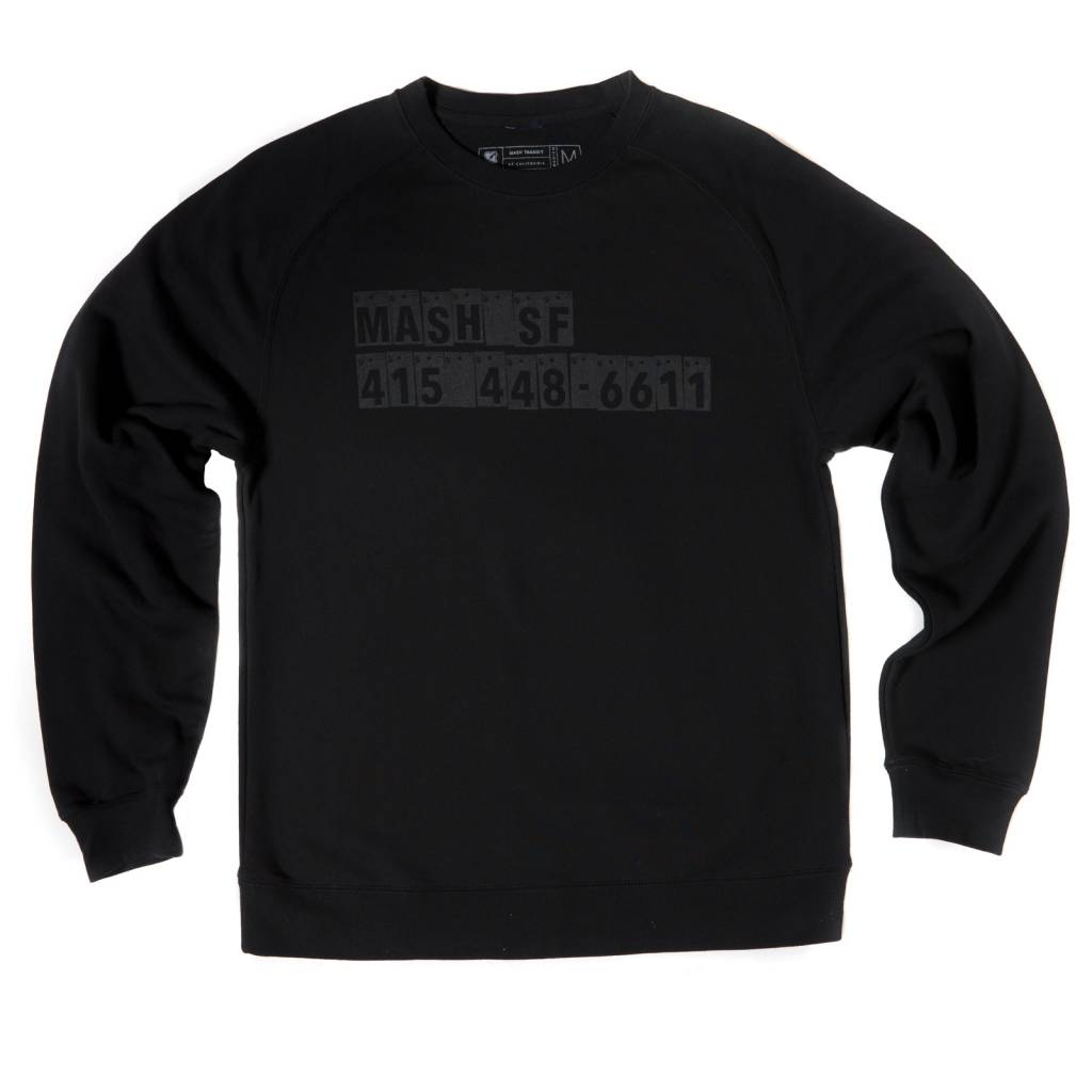 MASH 867-5309 Crew Neck Sweatshirt Reflective Black