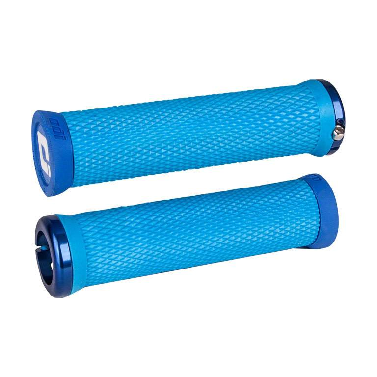 ODI ODI Elite Motion Lock-On Grips Light Blue with Blue Clamps