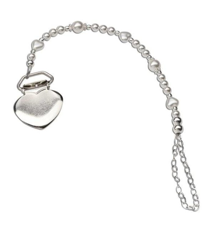Cherished Moments Cherished Moments Heart Pacifier Clip