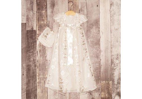 Robe de baptême&Bonnet Héritage