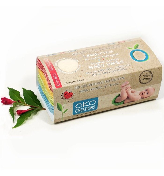 OKO CRÉATIONS ORGANIC COTTON BABY WIPES