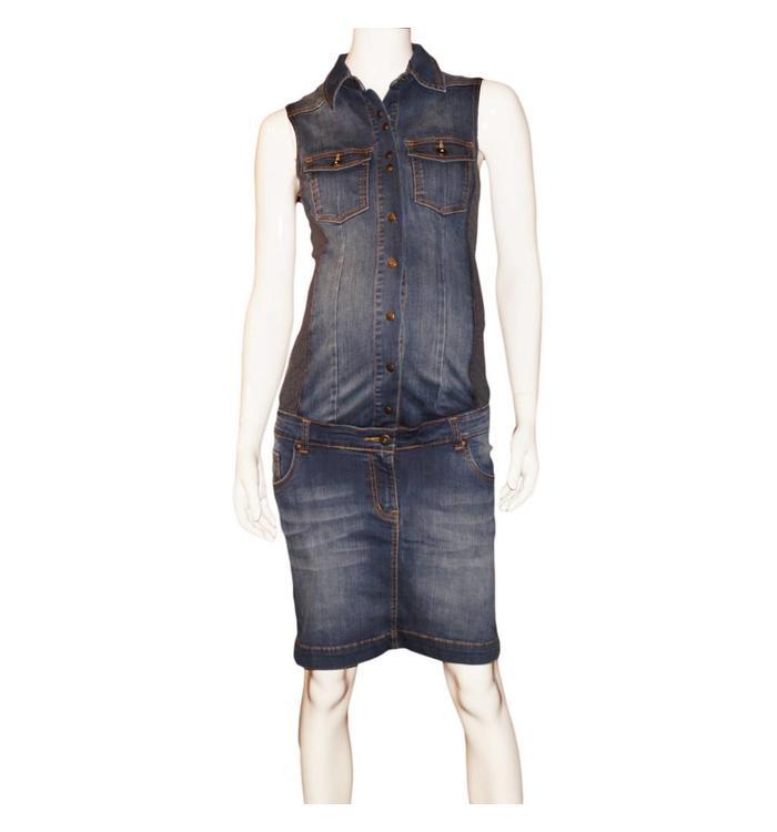 L2W L2W  Maternity Jean Dress