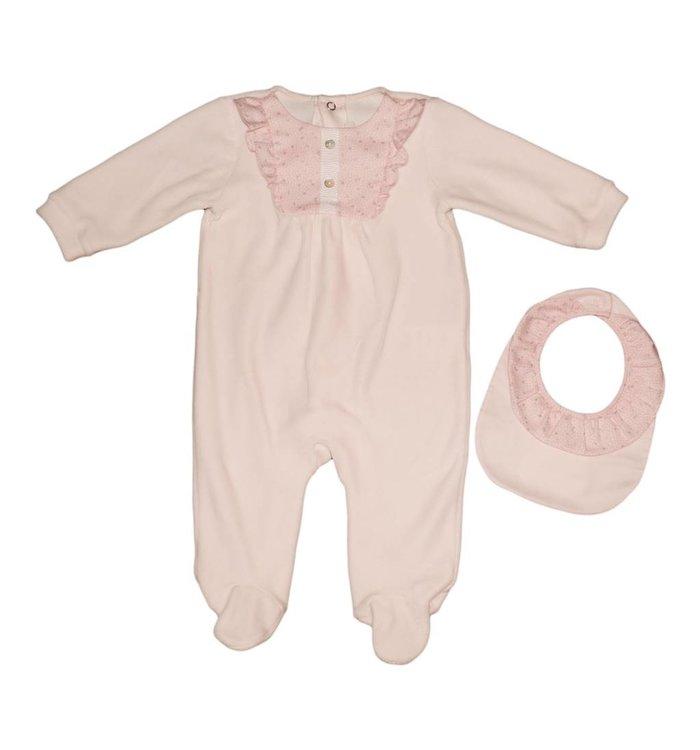 Pureté de Bébé Pureté de Bébé Girl's Pyjama & Bib, AH