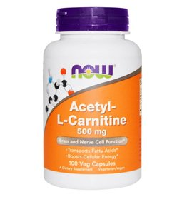 NOW Acetyl L-Carnitine 500mg 100Vcap