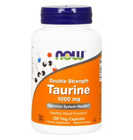 NOW Taurine 1000mg Dbl Str. 100vcap