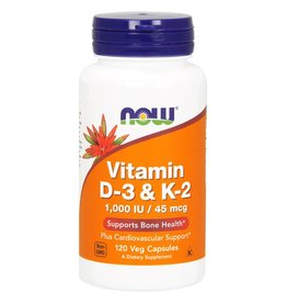 NOW Vitamin D3 and K2 120vcaps