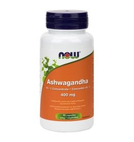 NOW Ashwagandha Ext 400mg 90vcap