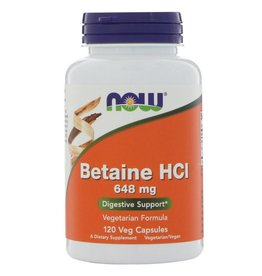 NOW Betaine HCL  120vcaps