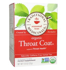Traditional Medicinals Throat Coat 16 Tea Bags