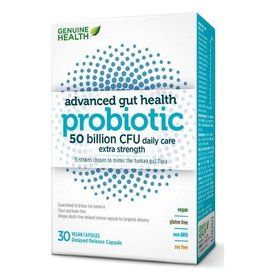 Genuine Health Advanced Gut Health Probiotic 50 billion 30 caps