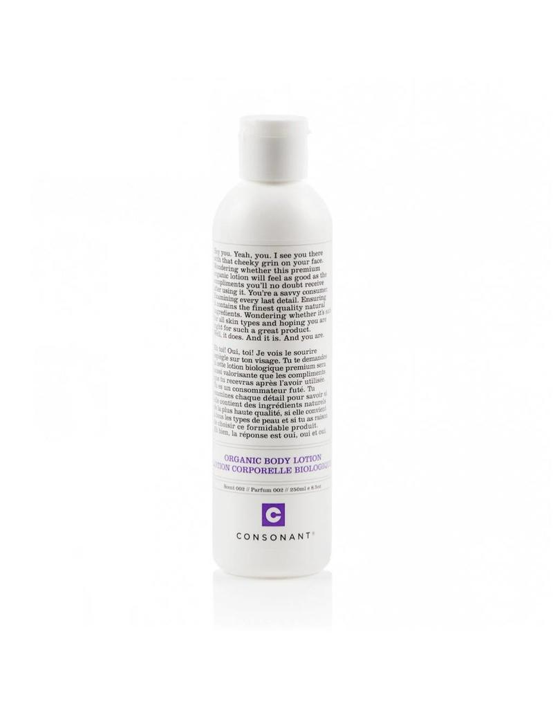 Consonant Skin Care Organic Body Lotion