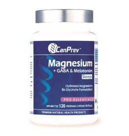 Can Prev Magnesium + GABA & Melatonin for Sleep, 120 v-caps