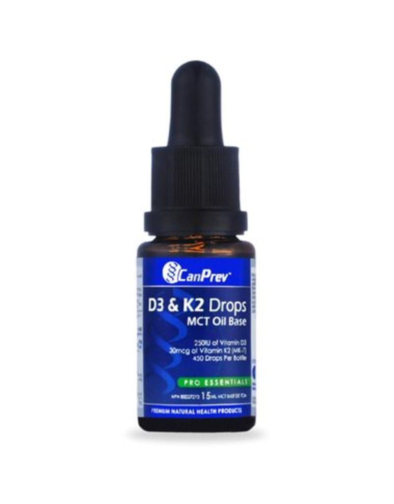 Can Prev D3 & K2 Drops - MCT base 15mL