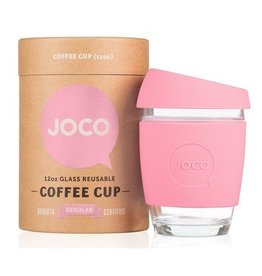 Joco Reusable Glass Cup Strawberry Pink