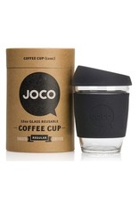 Joco Reusable Glass Cup Black 12oz