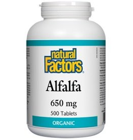 Natural Factors Alfalfa 650MG Tab 500
