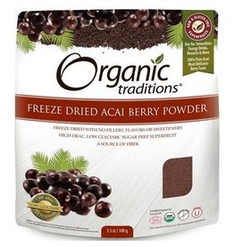 Organic Traditions Acai Berry Powder Freeze Dried 100g
