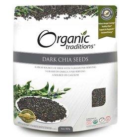 Organic Traditions Dark Chia Seeds 454g