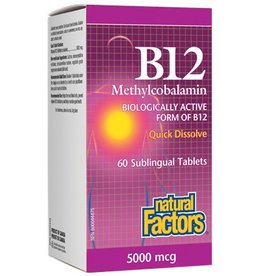 Natural Factors Vit. B12 (Meth) 5000mcg Tab 60