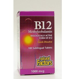 Natural Factors Sublingual B12 1000mcg  Tab 180