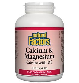Natural Factors Cal & Mag Citr Cap 180