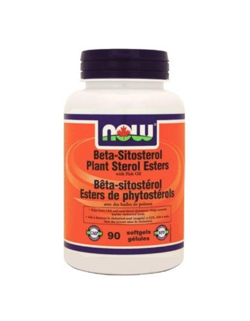 NOW Beta-Sitosterol Plant Sterol Esters with Fish Oil 90 softgels