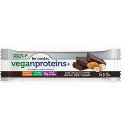 Genuine Health Fermented Vegan Protein Dark Chocolate Almond 12 bars