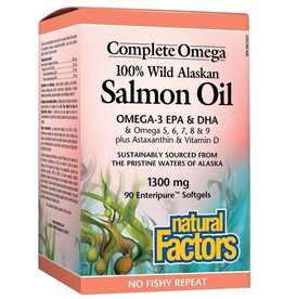 Natural Factors Wild Alaskan Salmon Oil 1300mg 90 softgels