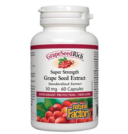Natural Factors Super Strength Grape Seed Extract 50mg 60 caps