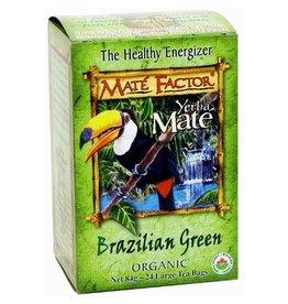 Mate Factor Yerba Mate Brazilian Green Organic Tea 24 bags