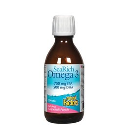 Natural Factors SeaRich Omega-3 750/500 200ml Lemon Meringue