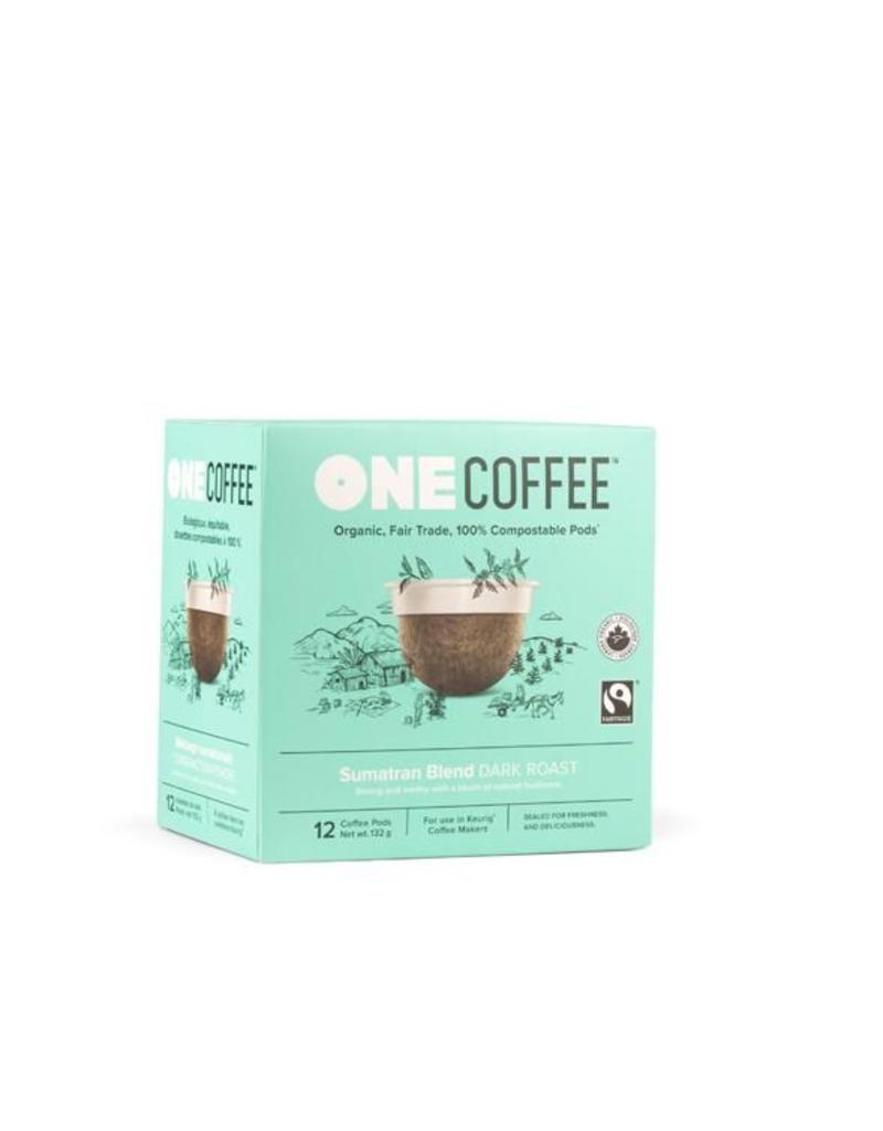 One Coffee Sumatran Blend Coffee Dark Roast 12 Pods