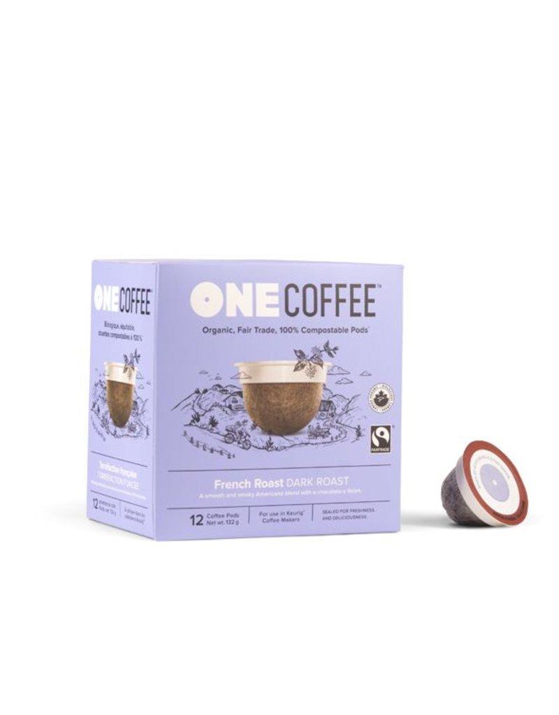 One Coffee French Roast Coffee Dark Roast 12 Pods
