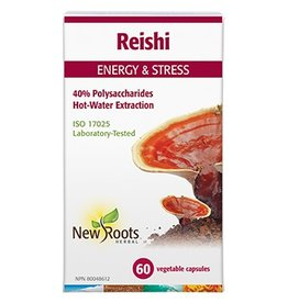 New Roots Reishi Hot Water Extraction 500mg 60 caps