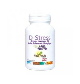 New Roots D-Stress Organic Lavender Oil 30 softgels
