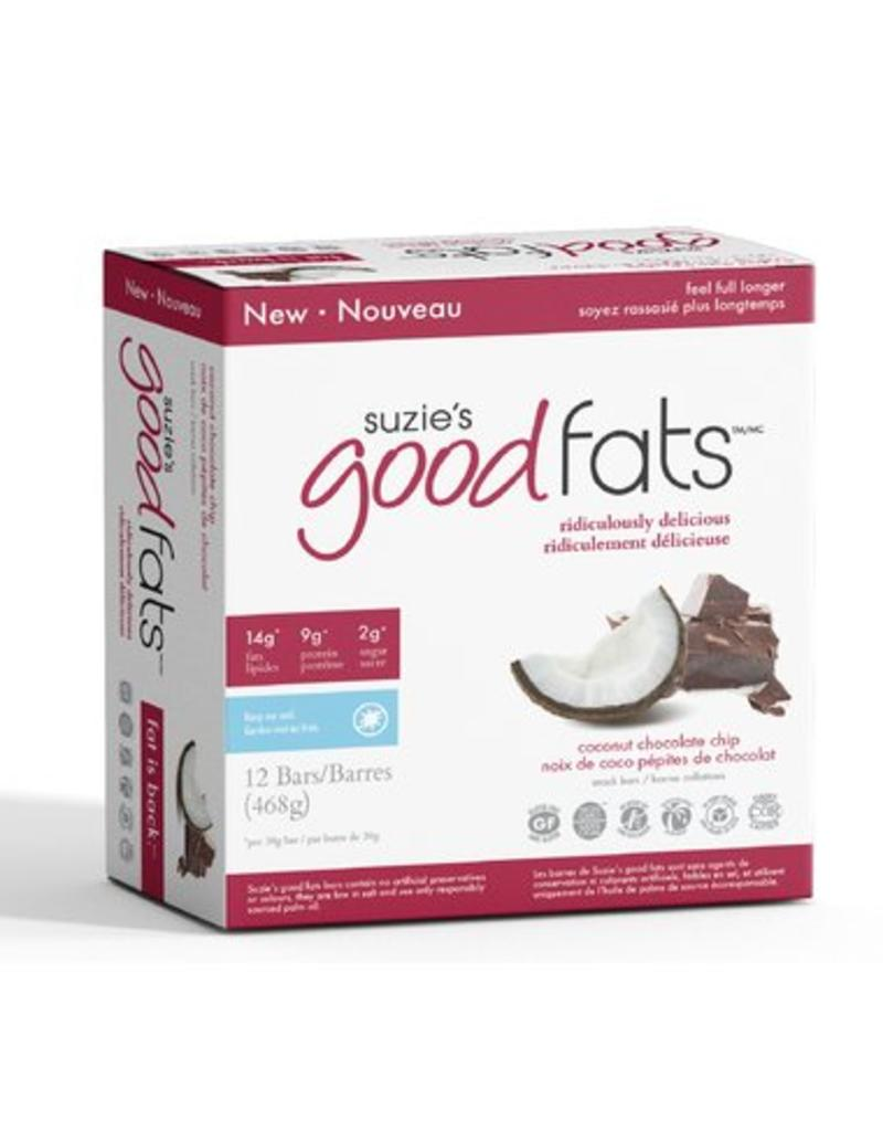 Suzie's Good Fats Good Fats Bar- Coconut Chocolate Chip box of 12