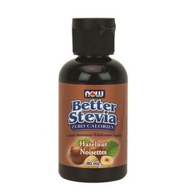 NOW Better Stevia Liquid Sweetener- Hazelnut 60ml