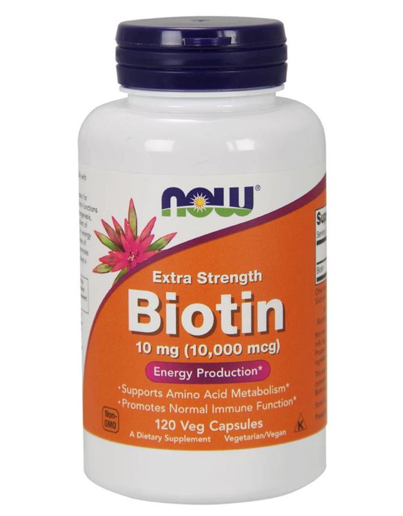 NOW Biotin Max Strength 10,000mcg 120caps