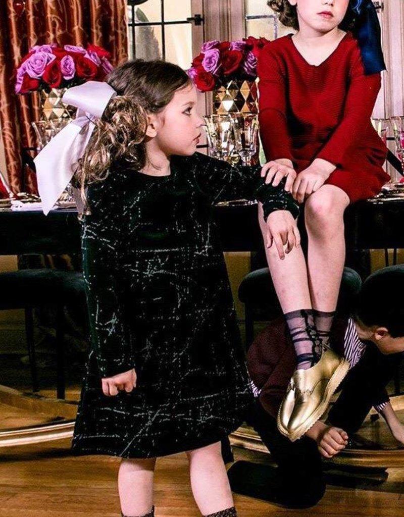 kipp Kipp Black Velvet A-line Dress