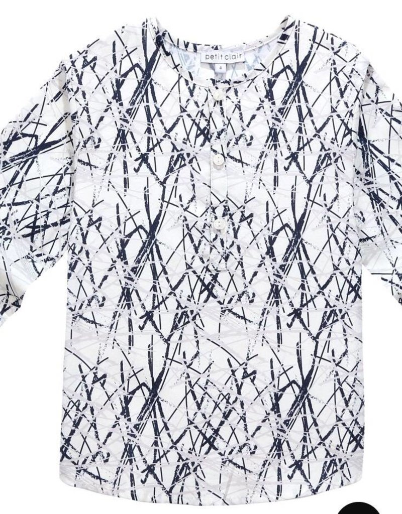 Petit clair Petit Clair Blue Grey Streaked Shirt