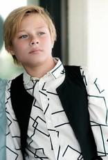 Petit clair Petit Clair squares print Collared Shirt