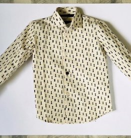 nove Nove Teal Checker Piece Collared Shirt