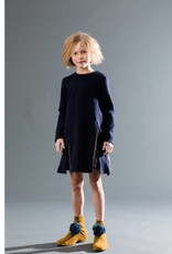 kipp Kipp Blue Pleat A-line Dress