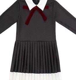 Petit clair Petit clair charcoal pleated dress