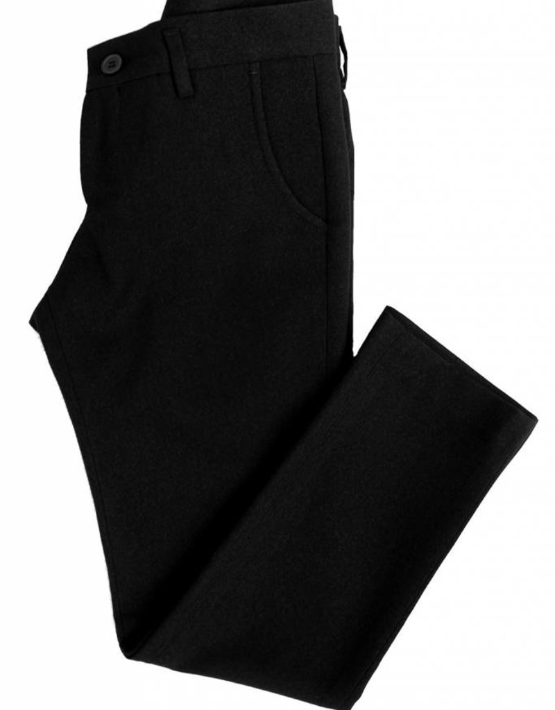 Euro Boys Black Suede Pants