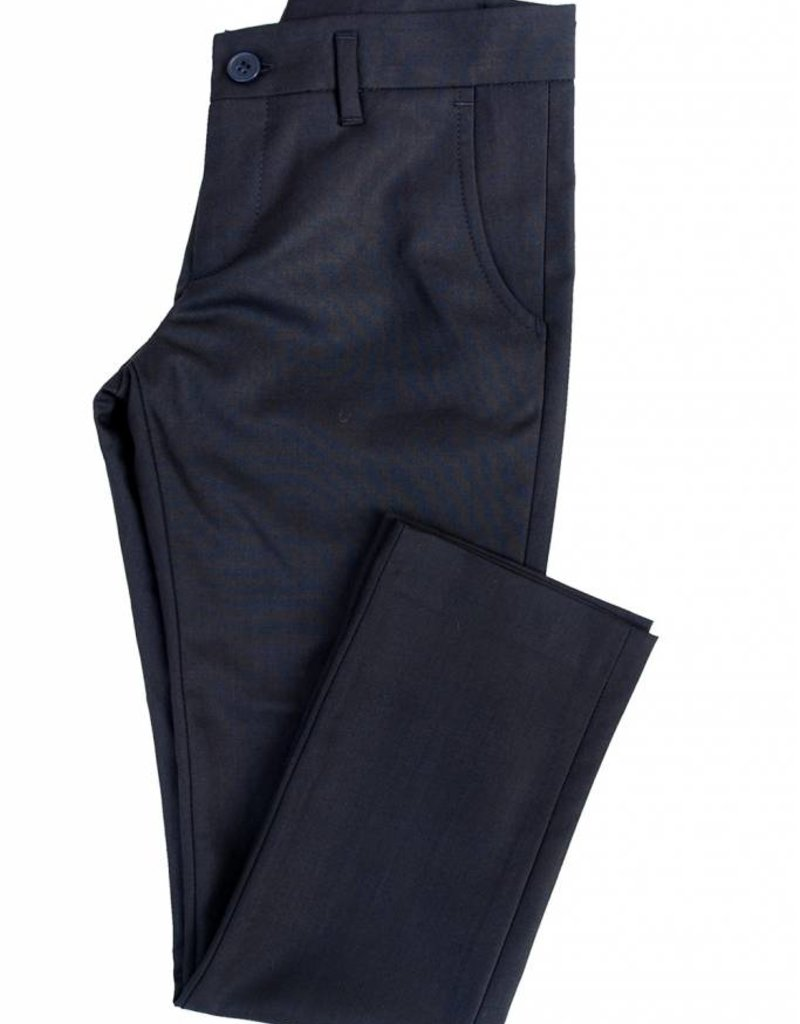 Euro Boys Wool Navy Pants