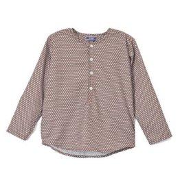 kipp Kipp Brown/Light Blue Spotted Collarles Shirt