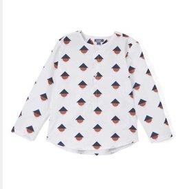 kipp Kipp Geometric Navy/Burnt Orange shirt